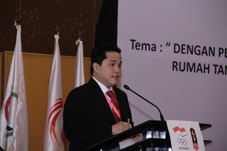 Ketua Umum Komite Olimpiade Indonesia periode 2015-2019, Erick Thohir.