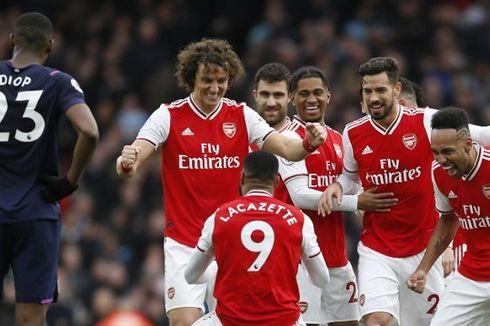 Arsenal Vs West Ham, Lacazette Akui The Gunners Beruntung Bisa Menang