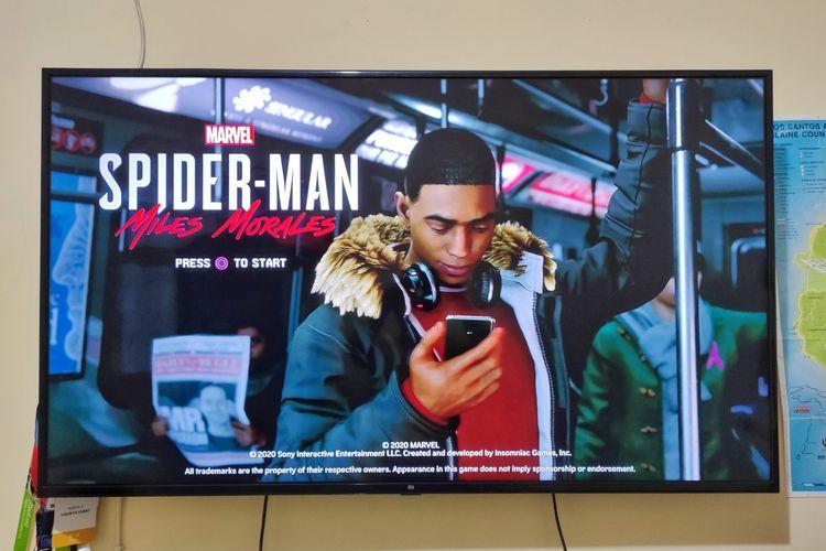 Ilustrasi tampilan awal Spider-Man: Miles Morales.