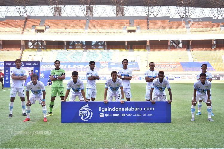Tim inti Persela Lamongan pada Pekan 1 2021-2022 melawan PSIS Semarang yang berakhir dengan skor 1-0 di Stadion Wibawa Mukti, Sabtu (4/9/2021) malam.