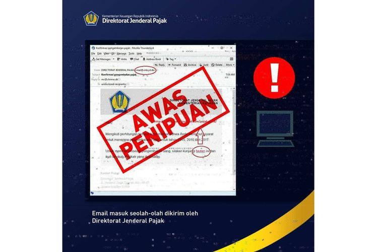 Email palsu beredar mengatasnamakan Direktorat Jenderal Pajak