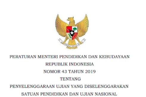 Sah, Mendikbud Nadiem Tetapkan USBN dan UN 2020 lewat Permendikbud