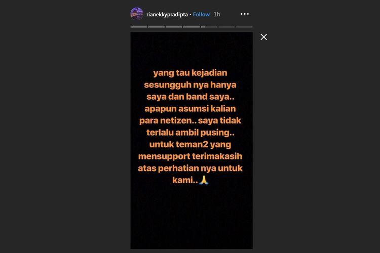 Postingan Instagram Story Rian DMASIV.