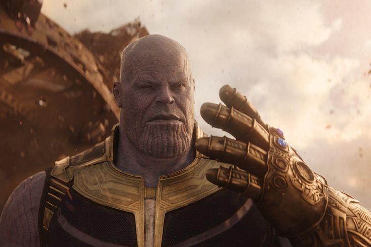 Thanos, karakter antagonis yang diperankan aktor Josh Brolin dalam film Avengers: Infinity War karya sutradara Anthony dan Joe Russo.