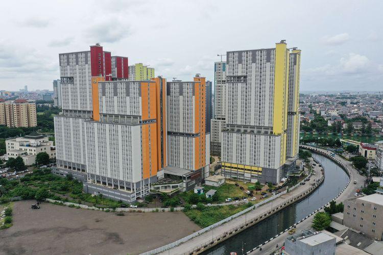 Wisma Atlet di Kemayoran, Jakarta Pusat, Kamis (19/3/2020). Untuk penanganan virus corona pemerintah tengah menyiapkan pemanfaatan Wisma Atlet Kemayoran sebagai lokasi karantina, observasi dan isolasi ODP Covid-19.