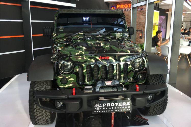Pelindung cat kendaraan Protera di IIMS 2018.