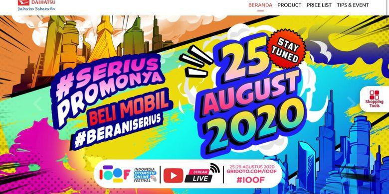 Diskon mobil di Indonesia Otomotif Online Festival (IOOF)