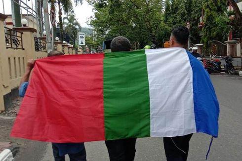 Saat Aktivis RMS Kibarkan Bendera Benang Raja di Kantor Polisi hingga di Gedung SD di Ambon