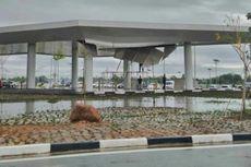 Plafon Bandara Syamsuddin Noor Banjarmasin Roboh Diterjang Angin Kencang