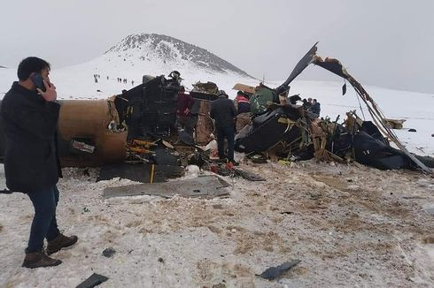 Helikopter Militer Jatuh Tewaskan 11 Orang, Turki Salahkan Cuaca
