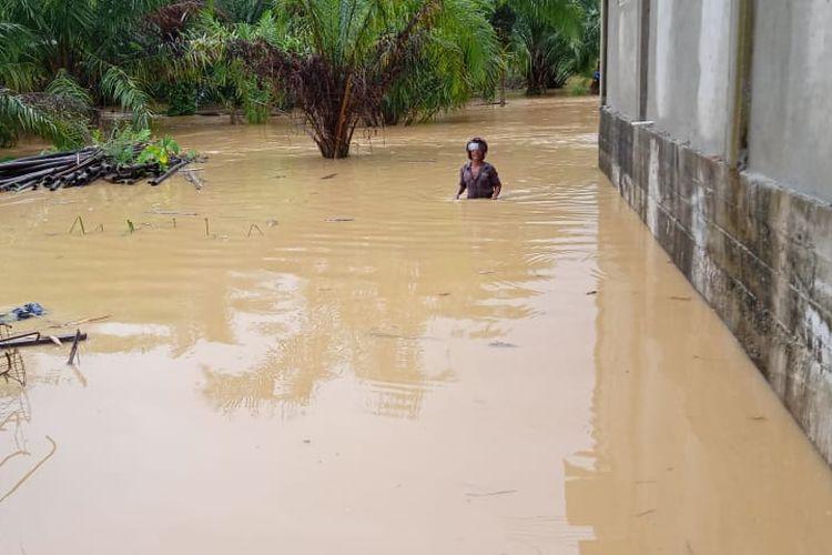 Salah satu lokasi banjir di Aceh Barat Daya, Rabu (23/9/2020).