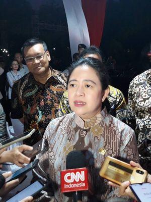 Politikus PDI-Perjuangan Puan Maharani di Kompleks Parlemen, Senayan, Jakarta, Senin (20/10/2019).