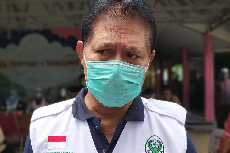 Kepala Dinkes Banyumas Sadiyanto seusai peluncuran PPKM mikro di Kelurahan Tanjung, Kecamatan Purwokerto Selatan, Kabupaten Banyumas, Sabtu (13/2/2021).