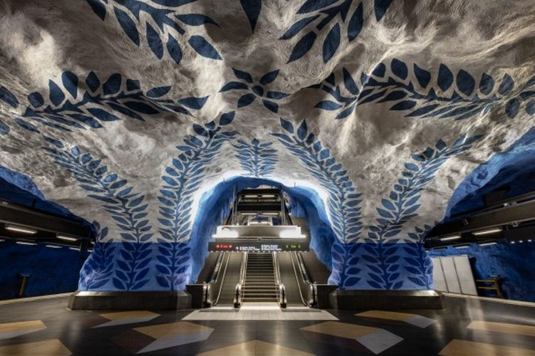 Stasiun bawah tanah Stockholm, Swedia
