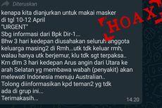 [HOAKS] Larangan Keluar Rumah pada 10-12 April karena Ada Angin Pembawa Wabah