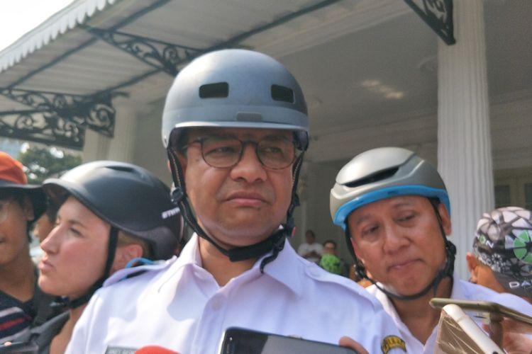 Gubernur DKI Jakarta Anies Baswedan di Balai Kota DKI Jakarta, Jalan Medan Merdeka Selatan, Jumat (20/9/2019).
