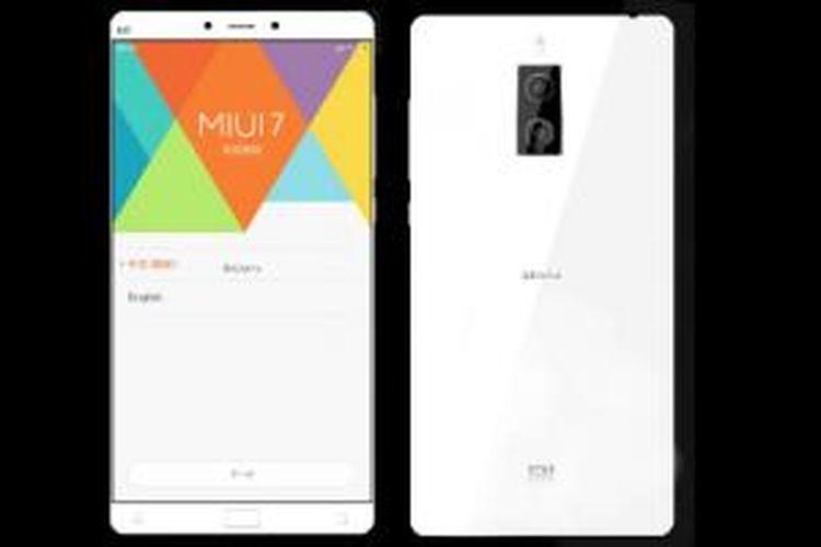 Bocoran foto Xiaomi Mi Note 2