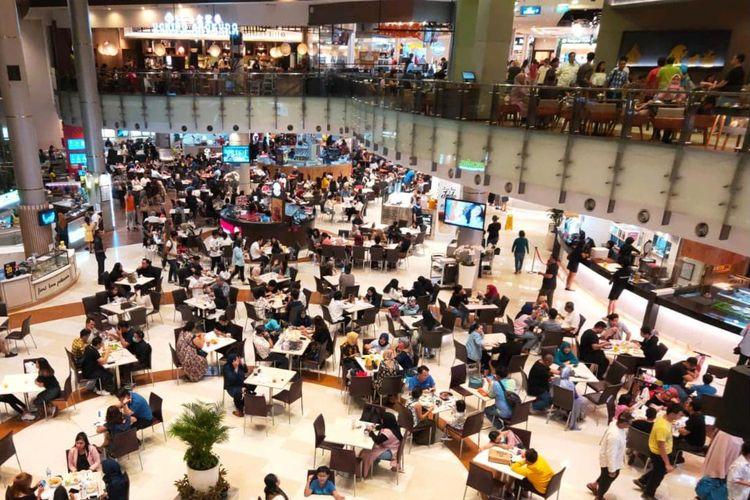 Situasi Pondok Indah Mall (PIM), Sabtu (7/3/2020) pukul 19.00 WIB.