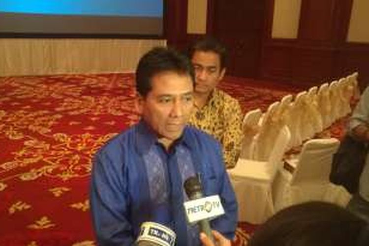 Ketua Apindo Haryadi Sukamdani di Komplek Perkantoran Kementerian Keuangan