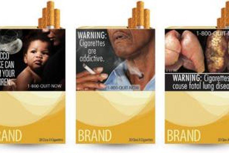Ilustrasi peringatan bergambar dalam kemasan rokok