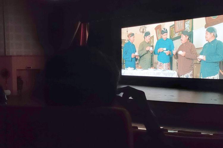 Gala Premier Nusabrara di Taman Budaya Kulon Progo, Sabtu (18/9/2021) malam. Gala Premier menjadi ajang rilis tiga film pendek dan anugerah bagi para pemain dan insan film Kulon Progo. Film berlatar potensi wisata Kulon Progo.