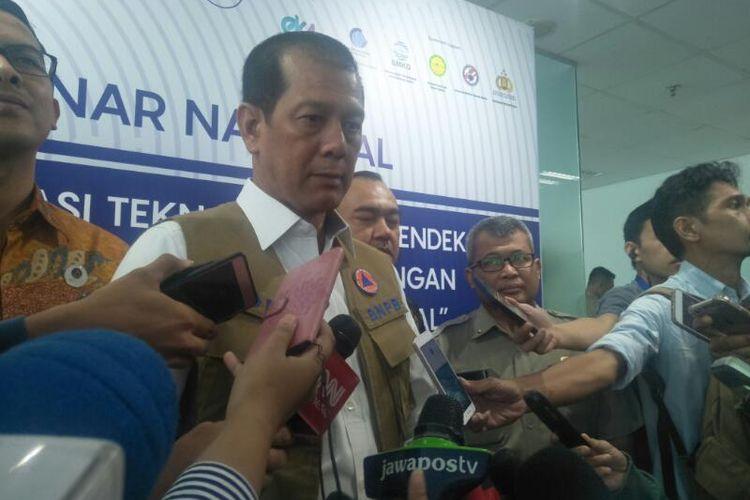 Kepala BNPB Doni Monardo di Graha BNPB, Jakarta, Senin (24/2/2020)