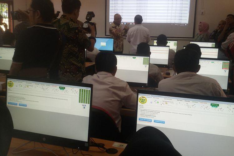 Ruang Computer Assisted Test (CAT) UPT BKN Pangkal Pinang yang diresmikan, Rabu (14/8/2019).
