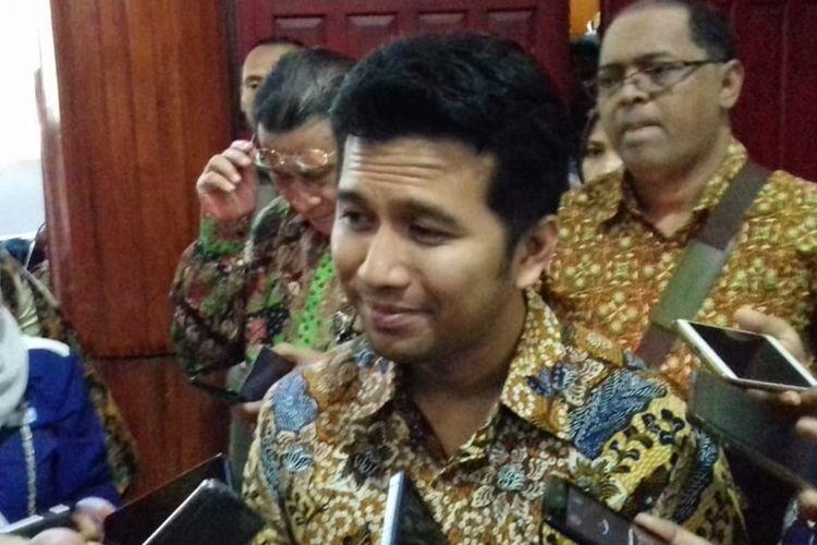 Wakil Gubernur Jawa Timur, Emil Elestianto Dadak saat menghadiri acara Satgas Saber Pungli di Universitas Brawijaya (UB) Kota Malang, Kamis (5/9/2019).