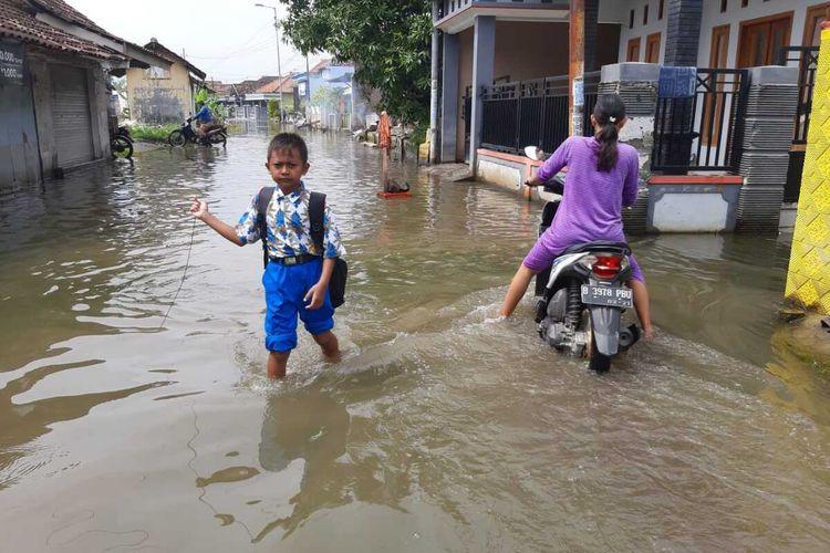 Banjir di Desa Kedung Banteng Kecamatan Tanggulangin Sidoarjo