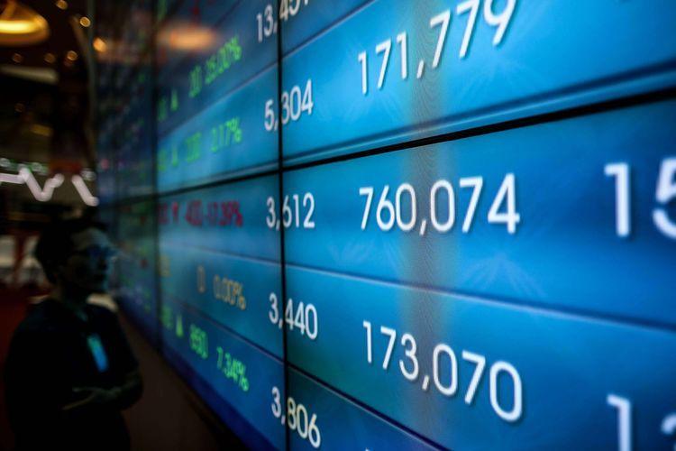 Ilustrasi: Pergerakan Indeks Harga Saham Gabungan (IHSG) di Bursa Efek Indonesia (BEI)