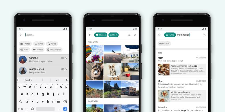 Fitur Advanced Search di aplikasi WhatsApp