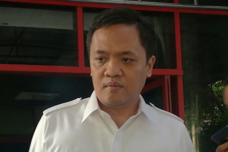 Ketua Bidang Advokasi DPP Partai Gerindra Habiburokhman di Kantor DPP Gerindra, Jakarta, Rabu (8/11/2017)