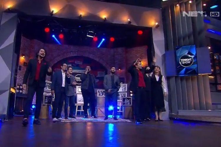 Bidik layar tayangan Tonight Show, Kamis (23/4/2020).