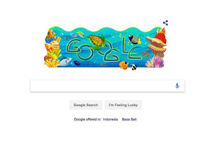 Google Doodle bergambar TN Bunaken.