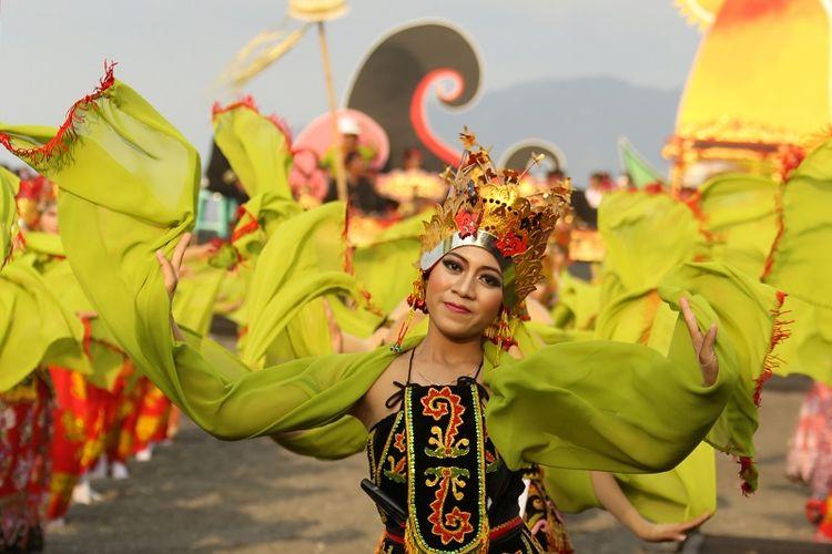 Salah satu penari Festival Gandrung Sewu
