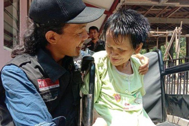 Sukiyah di Dusun Karangombo, Desa Polobugo, Kecamatan Getasan, Kabupaten Semarang, Jawa Tengah, setelah rambutnya  dipotong. (Tribun Jambi/Istimewa)