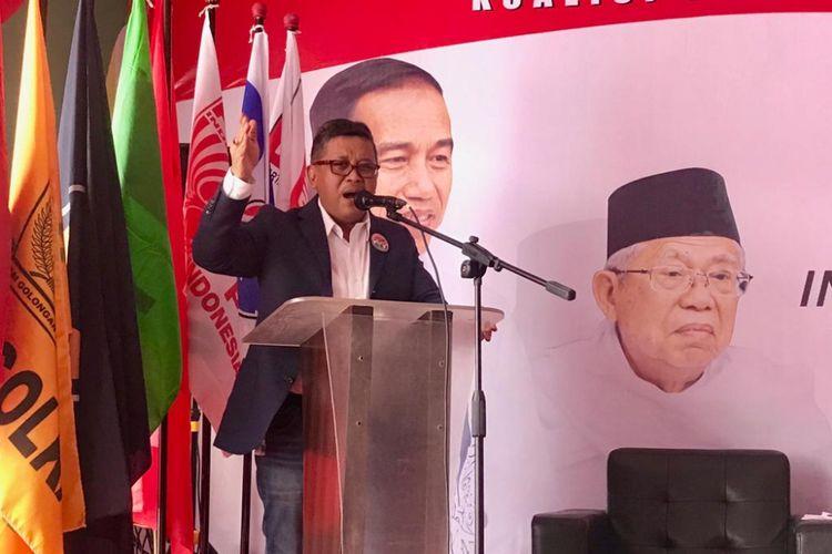 Sekretaris Tim Kampanye Nasional Jokowi-Maruf Amin, Hasto Kristianto