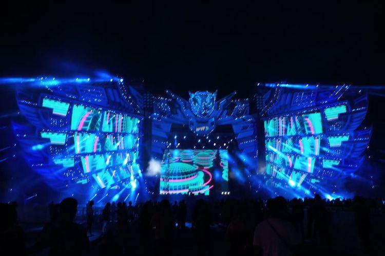 Ervan Virgan saat tampil di Stage Garuda Land, JIExpo Kemayoran, Jakarta Pusat, Jumat (13/12/2019).