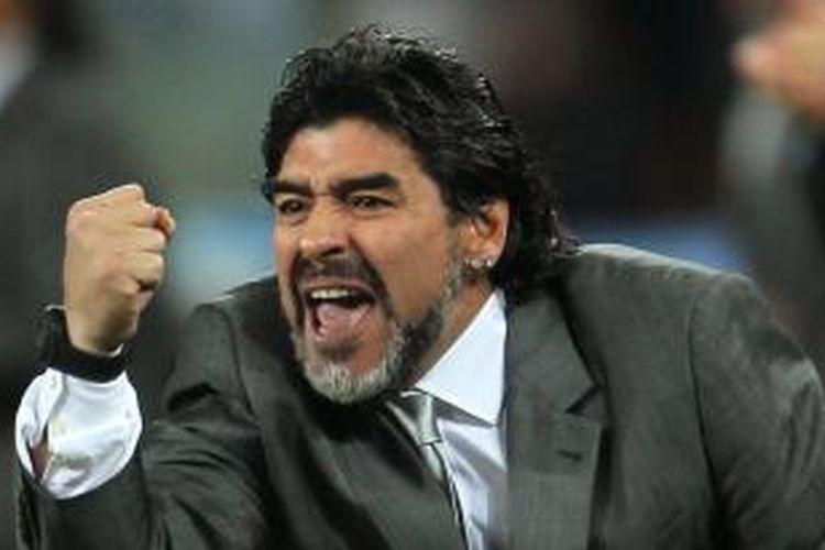 Legenda sepak bola Argentina, Diego Maradona.