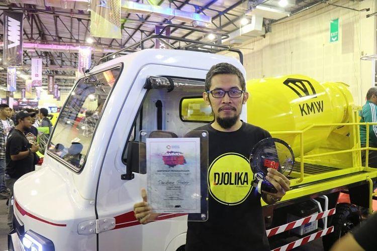 AMMDes Builder, mini mixer truck pemenang AMMDes Digimodz di IMX 2019.