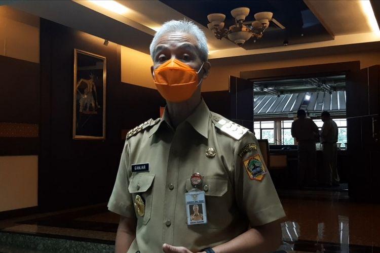 Gubernur Jawa Tengah Ganjar Pranowo saat ditemui di kantornya, Senin (19/10/2020).