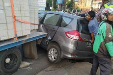 Kecelakaan Beruntun Terjadi di Depok Trade Centre, Dua Orang Luka-luka
