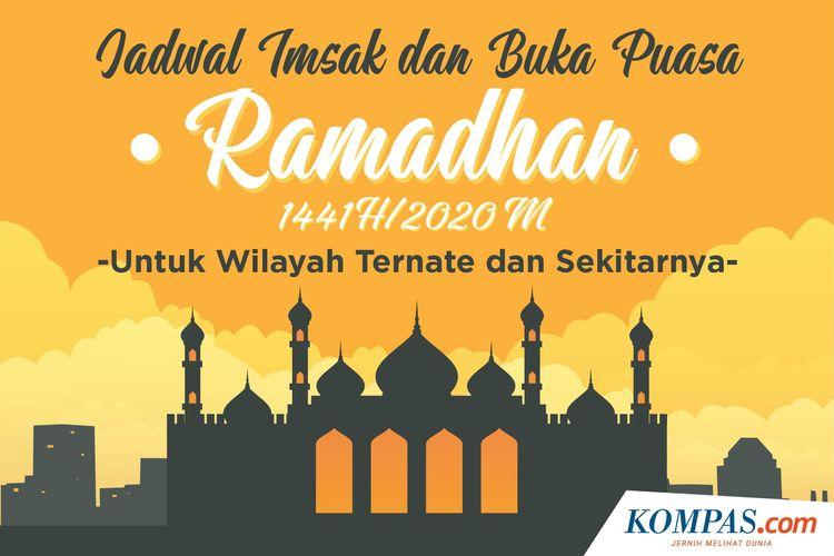 Jadwal Imsak dan Buka Puasa Ramadhan 1441 H/2020 M untuk Wilayah Ternate dan Sekitarnya