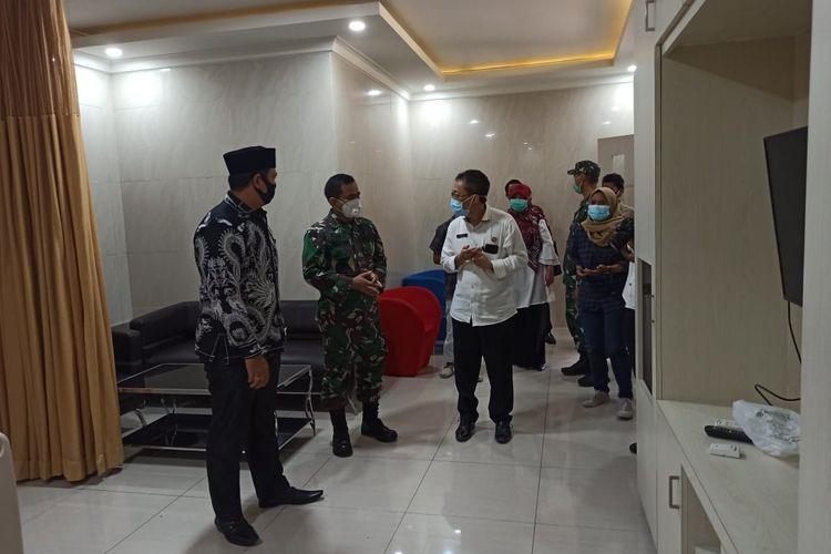 Ruangan khusus Covid-18 di rumah sakit Kencana yang siap menampung pasien Covid-19