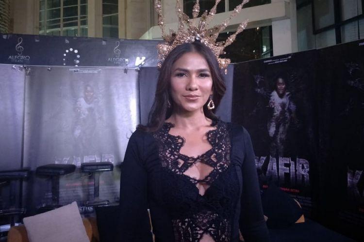Nova Eliza saat ditemui dalam jumpa pers dan screening film Kafir di Epicentrum, Kuningan, Jakarta Selatan, Kamis (26/7/2018).