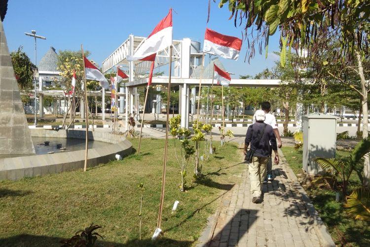 Kondisi Pos Lintas Batas Negara (PLBN) Motaain di Kabupaten Belu, Nusa Tenggara Timur (NTT)