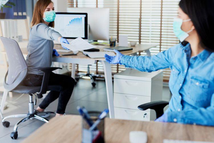 Ilustrasi desain kantor pasca-pandemi