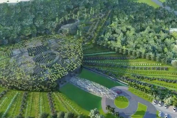 Desain pusat penelitian Sido Muncul