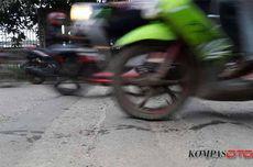 Pengendara Motor Hajar Polisi Tidur, Pembonceng Mental ke Aspal