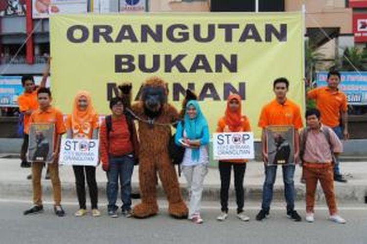 Center for Orangutan protection menyerukan Orangutan bukan mainan